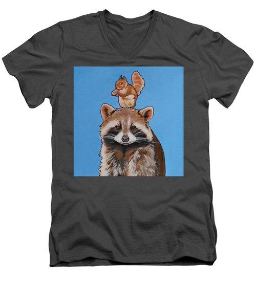 Rodney The Raccoon Men's V-Neck T-Shirt