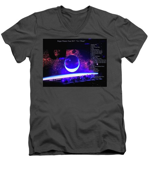 Roger Waters Tour 2017 Show In Portland Or Men's V-Neck T-Shirt