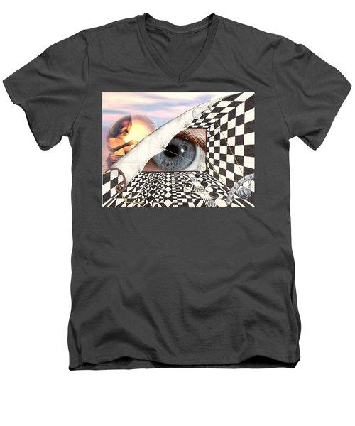 Roll Back Men's V-Neck T-Shirt