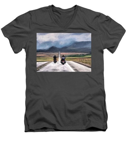 Roll Me Away Men's V-Neck T-Shirt