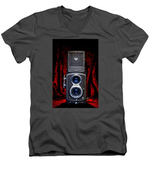 Rollei Men's V-Neck T-Shirt by Keith Hawley