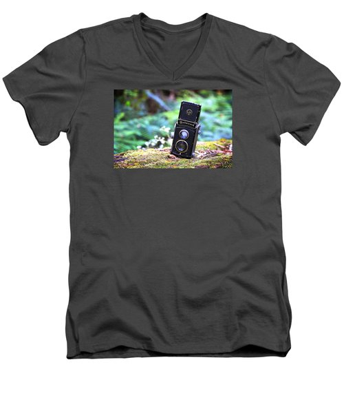 Men's V-Neck T-Shirt featuring the photograph Rolleicord 2 by Keith Hawley