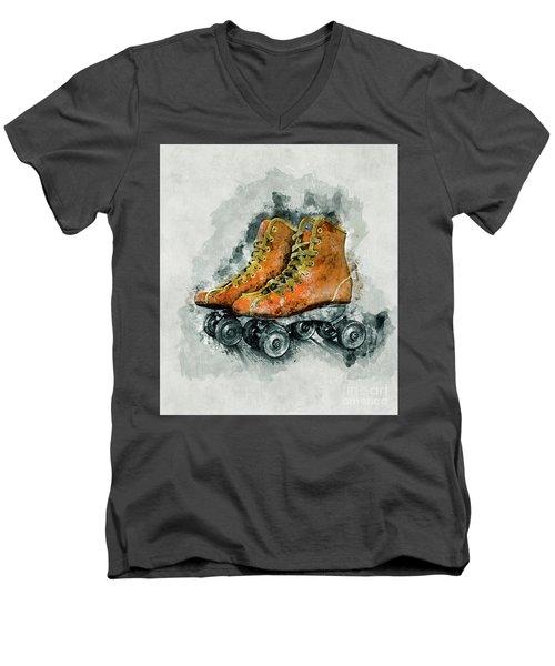 Roller Skates Men's V-Neck T-Shirt