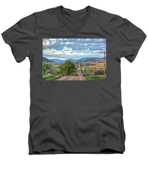 Rollercoaster Country Road Men's V-Neck T-Shirt