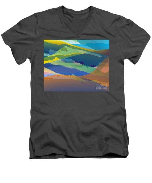 Rolling Hills Landscape Men's V-Neck T-Shirt
