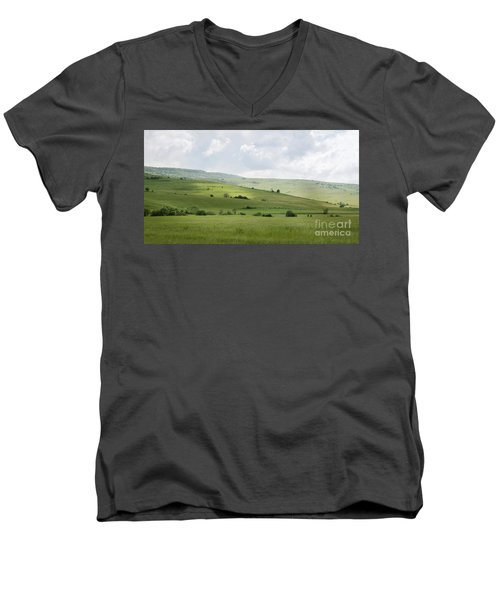 Rolling Landscape, Romania Men's V-Neck T-Shirt