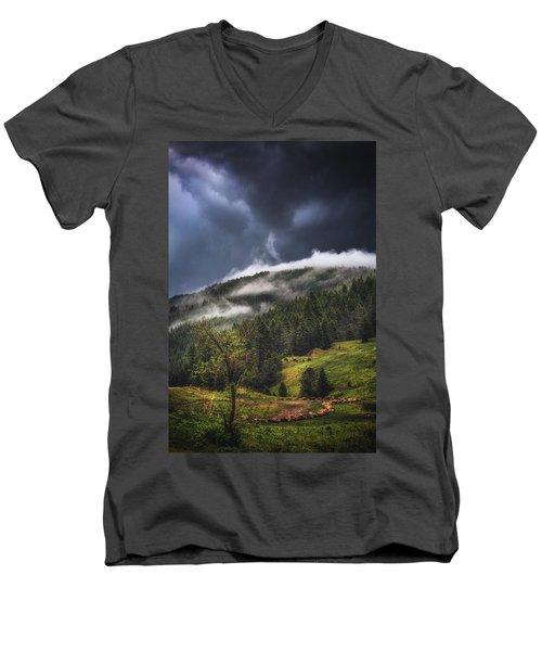 Rolling Through The Trees Men's V-Neck T-Shirt