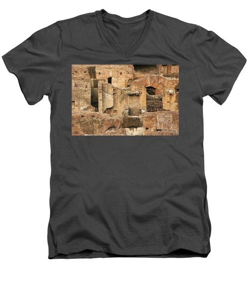 Roman Colosseum Men's V-Neck T-Shirt by Silvia Bruno
