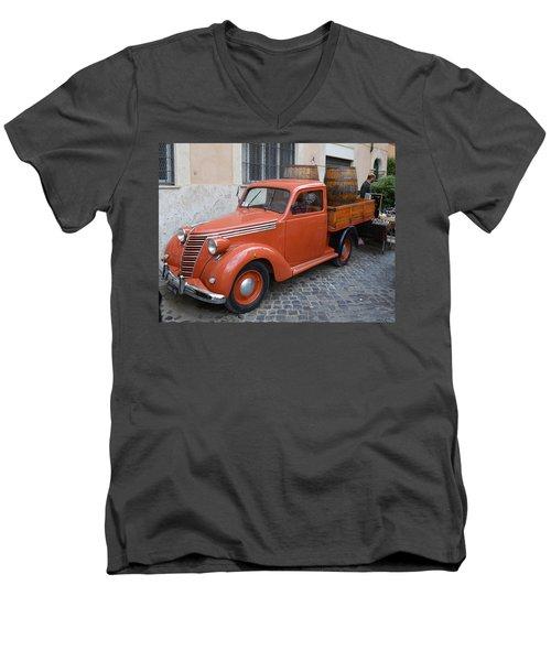 Roman Street Parking And Shopping Men's V-Neck T-Shirt