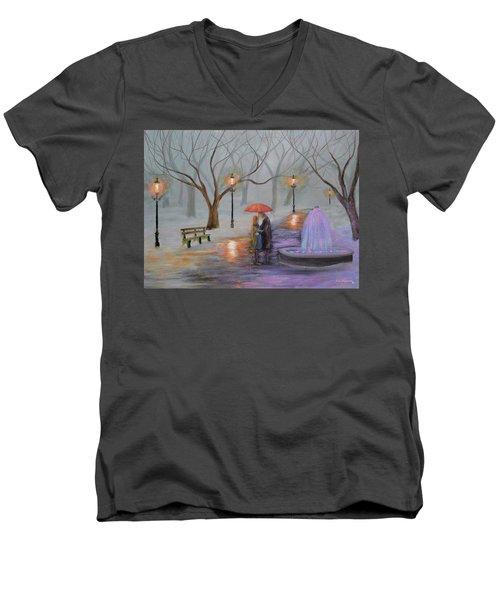 Romance In The Park Men's V-Neck T-Shirt