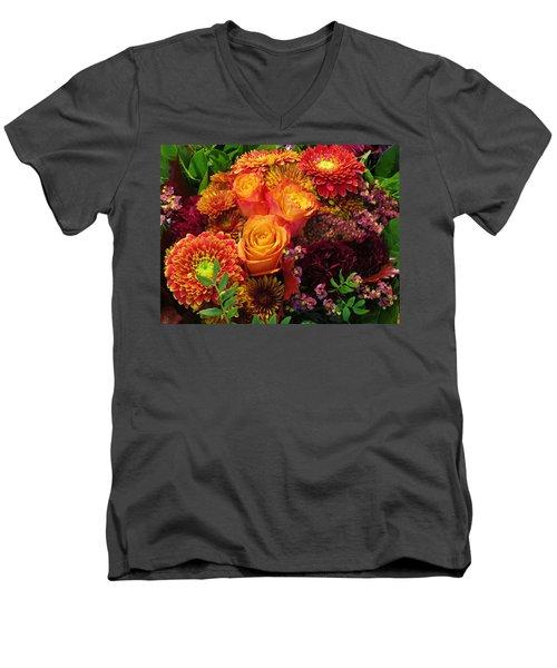 Romance Of Autumn Men's V-Neck T-Shirt