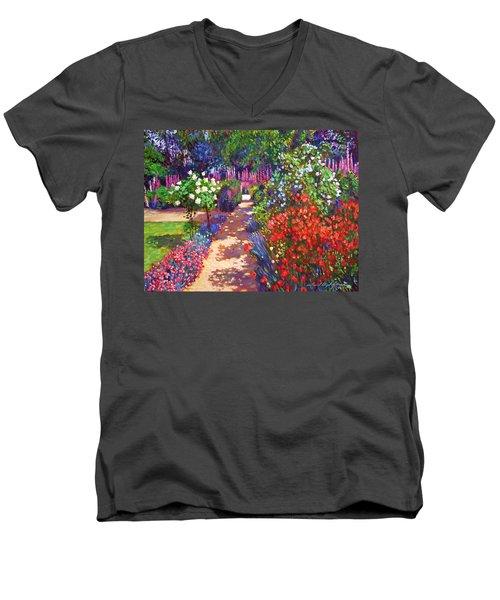 Romantic Garden Walk Men's V-Neck T-Shirt