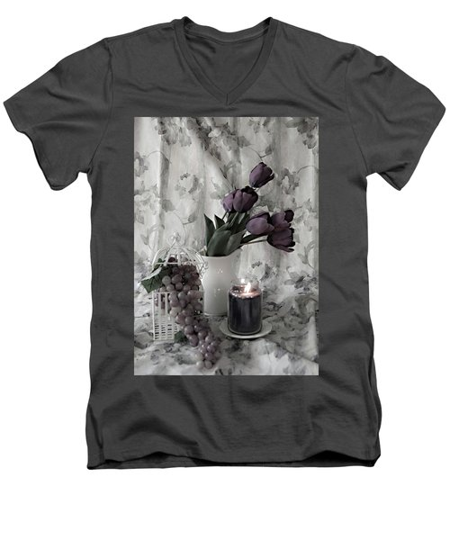 Men's V-Neck T-Shirt featuring the photograph Romantic Thoughts by Sherry Hallemeier