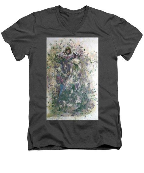 Romeo And Juliet. Monotype Men's V-Neck T-Shirt