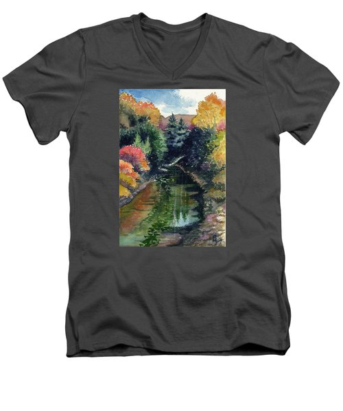 Ronceverte, Wv Men's V-Neck T-Shirt by Katherine Miller