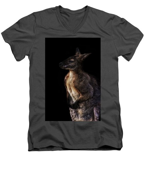 Roo Men's V-Neck T-Shirt by Martin Newman