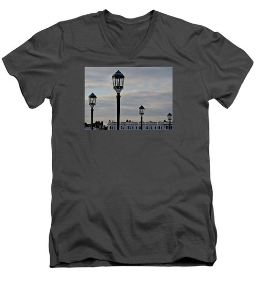 Roof Lights Men's V-Neck T-Shirt by John Topman