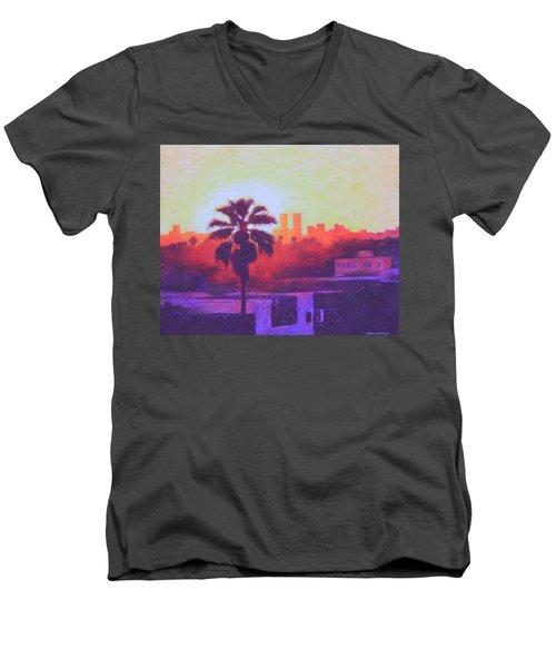 Rooftop Glow Men's V-Neck T-Shirt