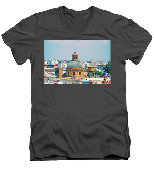 Men's V-Neck T-Shirt featuring the photograph Rooftops Of Seville - 1 by Mary Machare
