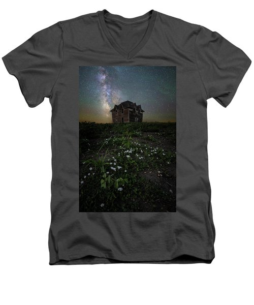 Men's V-Neck T-Shirt featuring the photograph Room With A View by Aaron J Groen