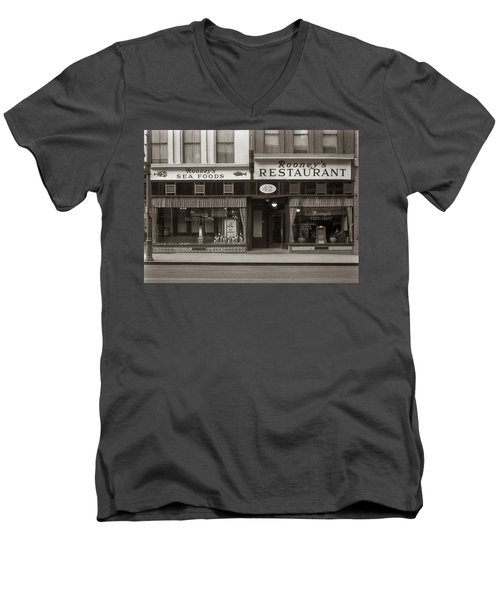 Rooney's Restaurant Wilkes Barre Pa 1940s Men's V-Neck T-Shirt