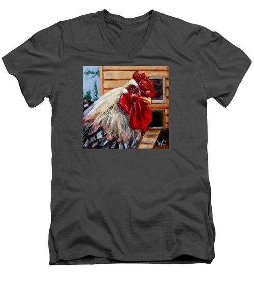 Roopert Men's V-Neck T-Shirt by Pattie Wall