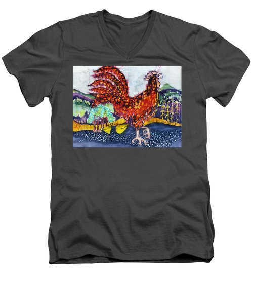 Rooster In The Morning Men's V-Neck T-Shirt