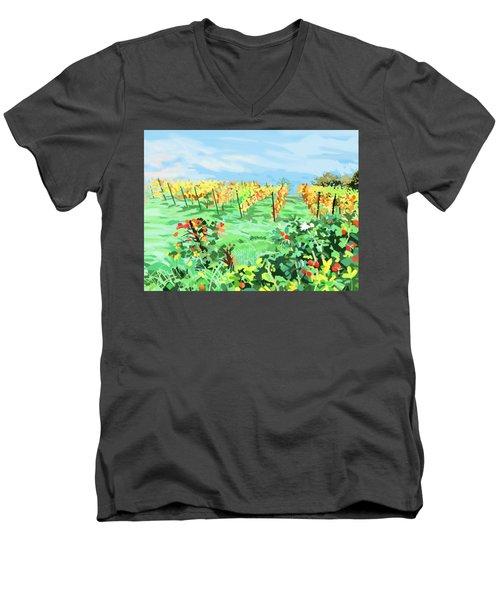 Roosthole Vineyard Men's V-Neck T-Shirt by Plum Ovelgonne