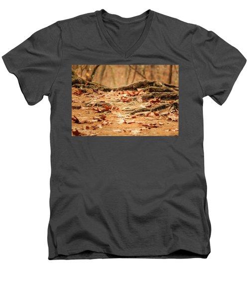Roots Along The Path Men's V-Neck T-Shirt
