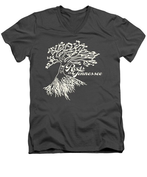 Roots In Tennessee Men's V-Neck T-Shirt by Heather Applegate