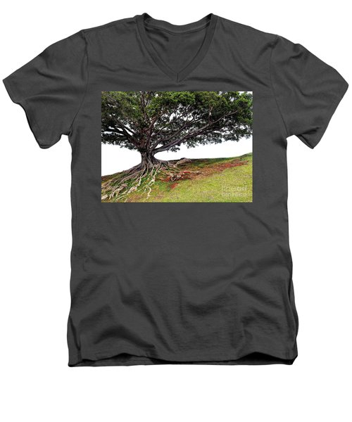 Roots Of Honolulu Men's V-Neck T-Shirt by Gina Savage