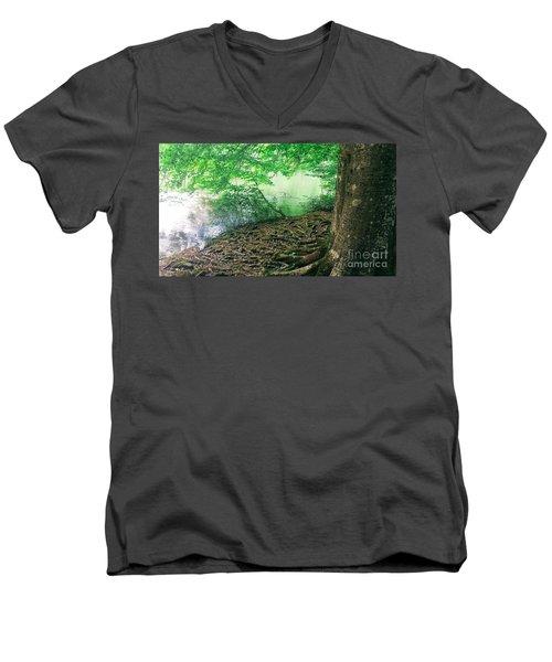 Roots On The River Men's V-Neck T-Shirt