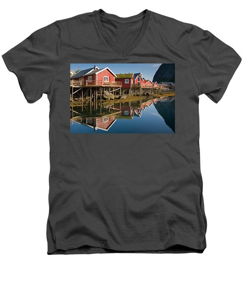 Rorbus With Reflections Men's V-Neck T-Shirt by Aivar Mikko