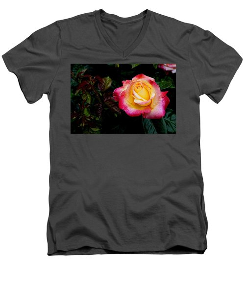Rose 1 Men's V-Neck T-Shirt