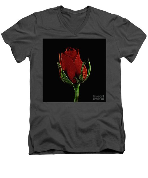 Rose 123 Men's V-Neck T-Shirt