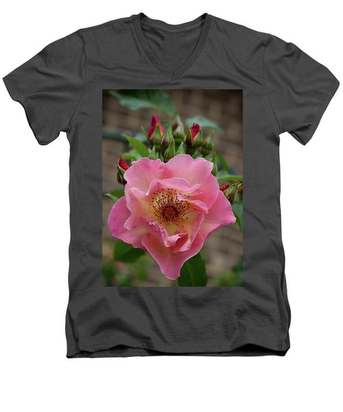 Rose And Buds Men's V-Neck T-Shirt