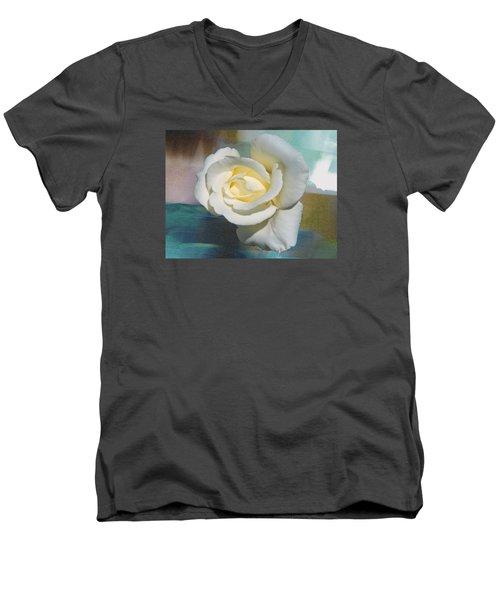 Rose And Lights Men's V-Neck T-Shirt by Helen Haw