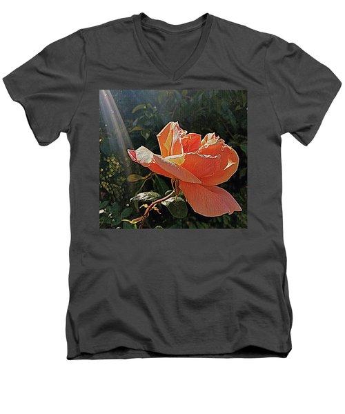 Rose And Rays Men's V-Neck T-Shirt by Suzy Piatt