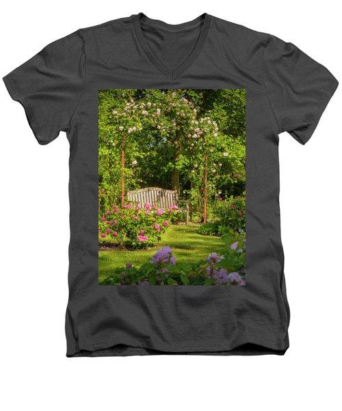 Rose Arbor Men's V-Neck T-Shirt