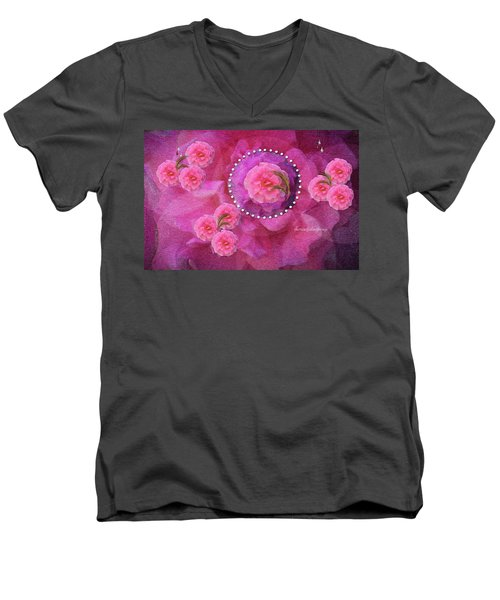 Rose Art A Rose Is Given With Love Men's V-Neck T-Shirt