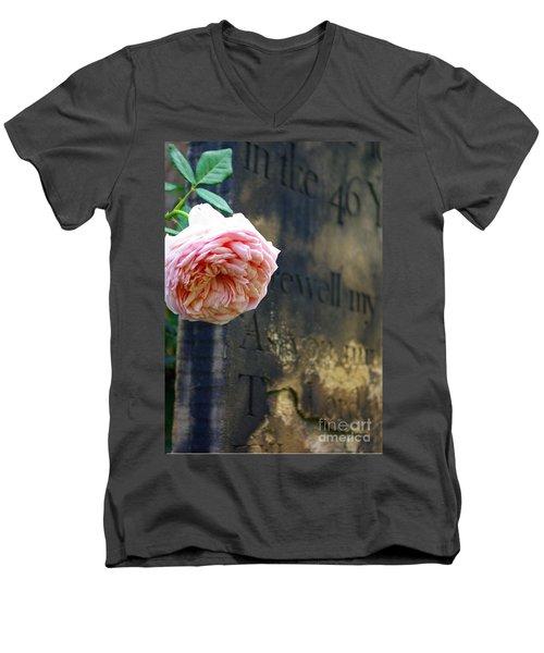 Rose At The Grave Men's V-Neck T-Shirt