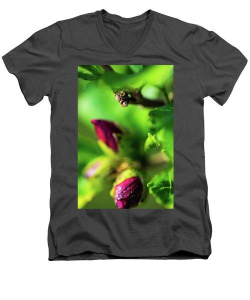 Rose Buds Body Guard Men's V-Neck T-Shirt