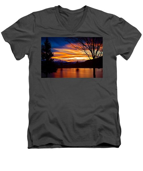 Rose Canyon Dawning Men's V-Neck T-Shirt by Paul Marto