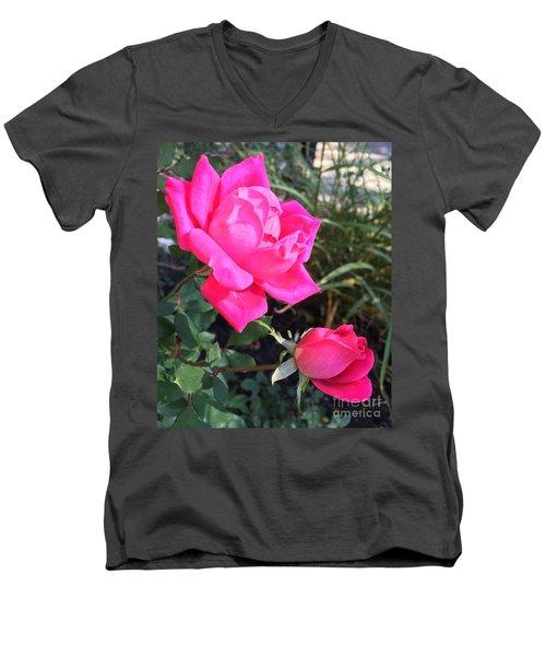 Rose Duet Men's V-Neck T-Shirt