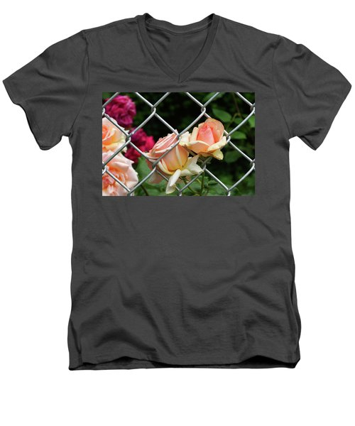 Rose Fence Men's V-Neck T-Shirt