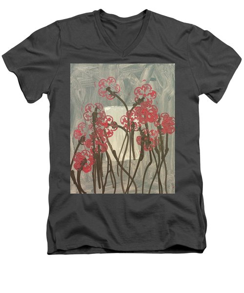 Rose Field Men's V-Neck T-Shirt by Artists With Autism Inc