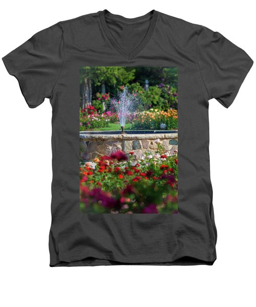 Rose Fountain Men's V-Neck T-Shirt