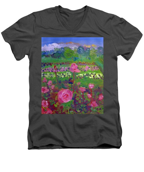 Rose Gardens In Minneapolis Men's V-Neck T-Shirt