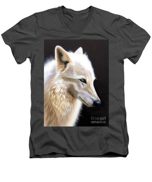 Rose IIi Men's V-Neck T-Shirt by Sandi Baker