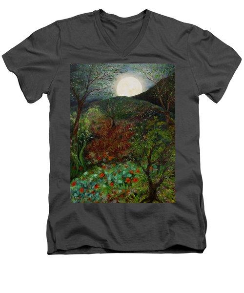 Rose Moon Men's V-Neck T-Shirt